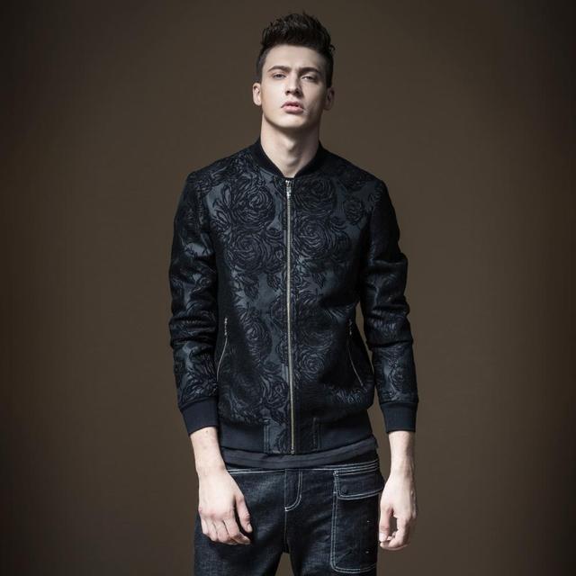 Free Shipping New autumn men's MALE Product slim body jacquard jacket coat mens clothes B173104027