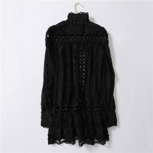 Image 3 - Truevoker robe Europe, style style station, Sexy, manches longues, broderie ajourée, avec rivets, tenue de soirée, boîte de nuit