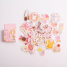 40pcs/pack Fashion Summer Paper Sticker Album Diy Diary Sticker Handbook Decoration Label Scrapbooking Sticker Label 40pcs lot vintage plants sticker decoration diy scrapbooking paper stickers kawaii diary label sealing stationery sticker