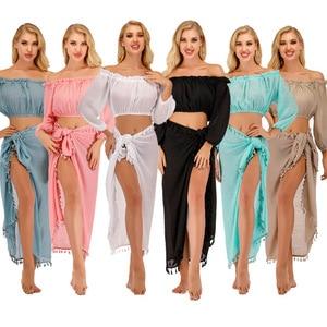 Verano playa vestido para mujer 2020 trajes de baño vestidos traje de baño cubrir mujeres caliente Sexy Split delantal toalla sol protección Bikini
