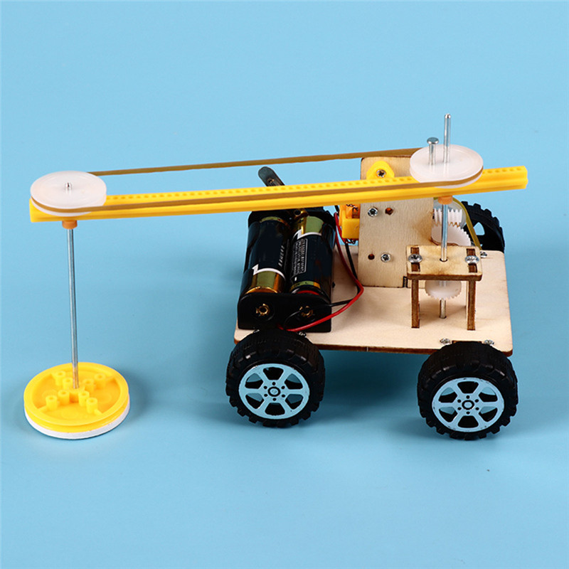 DIY Assemble Electric Lift Toys Kids Science Educational Toy Kits Set Funny Gift