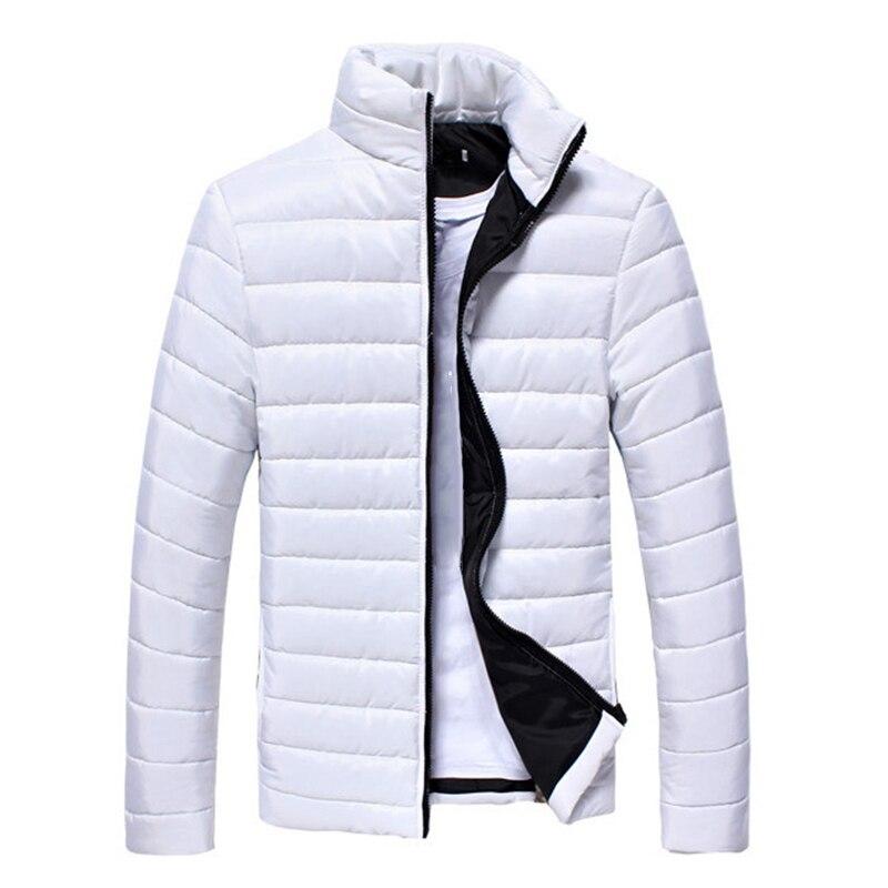2019 Men Fashion Jacket Puffer Coat Jackets Basic Winter Warm Down Stand Collar Zipper Ultralight Male Solid Color Outwear