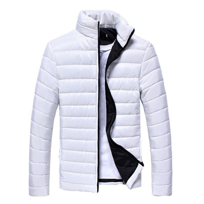 2019 Men Jacket Puffer Coat Jackets Basic Winter Warm Down Stand Collar Zipper Ultralight Mens Outwear