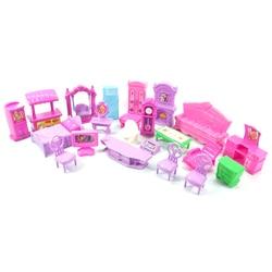 22 шт./упак. кукольный домик наборы игрушечной мебели миниатюрный для детей ролевые игры набор номера одет притворяться игрушечные игрушки