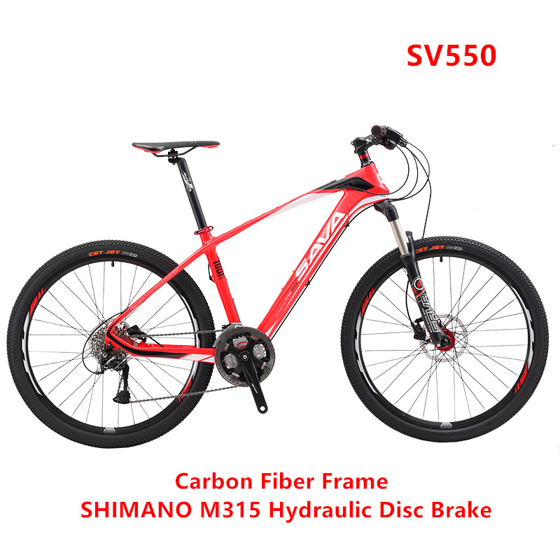 New Brand Carbon Fiber 27 Speed 26 Inch Hydraulic Disc Brake M315 Mountain Bike Outdoor Downhill Bicycle MTB Bicicletas