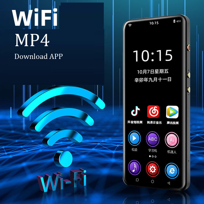 WiFi MP4 Player 3.5 inch Full Touch Screen Android MP3 Bluetooth 5.0 MP5 Download APP HiFi Loseless Video Photo Music Players image