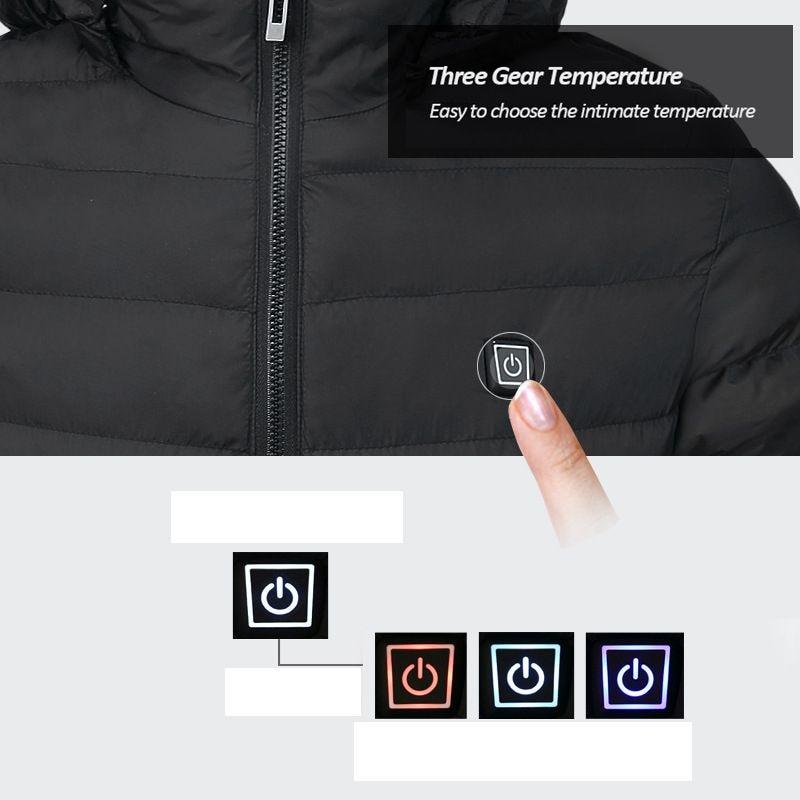H06de528ad1594998ab65e95747433912V 3 Color Heated Winter Jacket