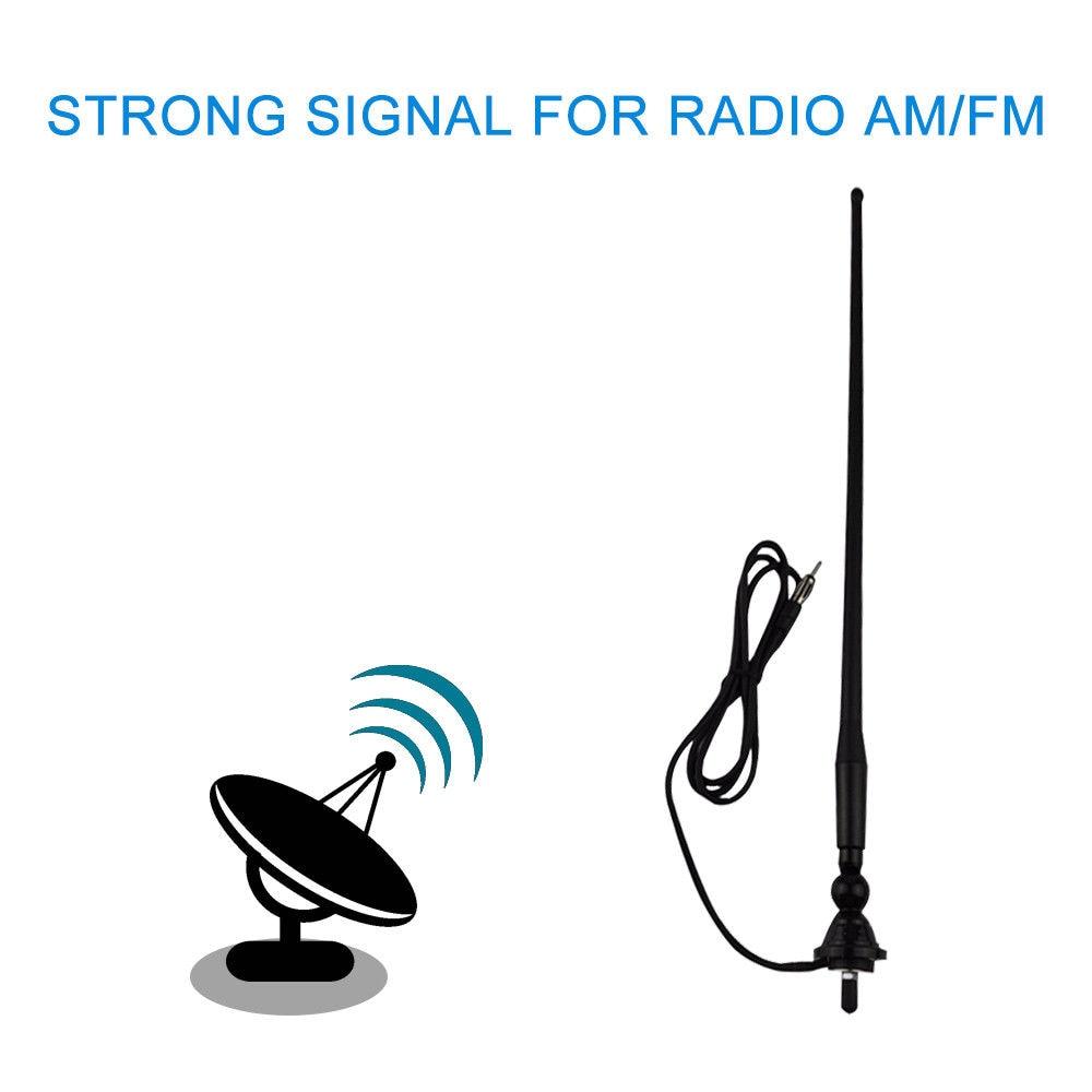 Waterproof Marine Boat Yacht Car Radio Antenna FM AM Dipole Flexible Rubber Duck