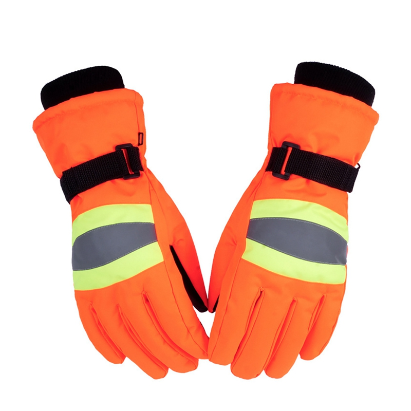Skiing Gloves Women Men Full Finger Water Resistant Reflective Thermal Fluffy Working Outdoor Cycling gloves For Workers|Skiing Gloves| |  - title=