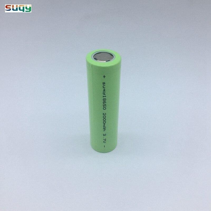 Suqy Nouveau 1/2/3/4/6/8/10 pièces 18650 10 pièces 3.7v 2000mah 18650 Rechargeable Batterie With Chargeur Pour Lampe De Poche Batterie