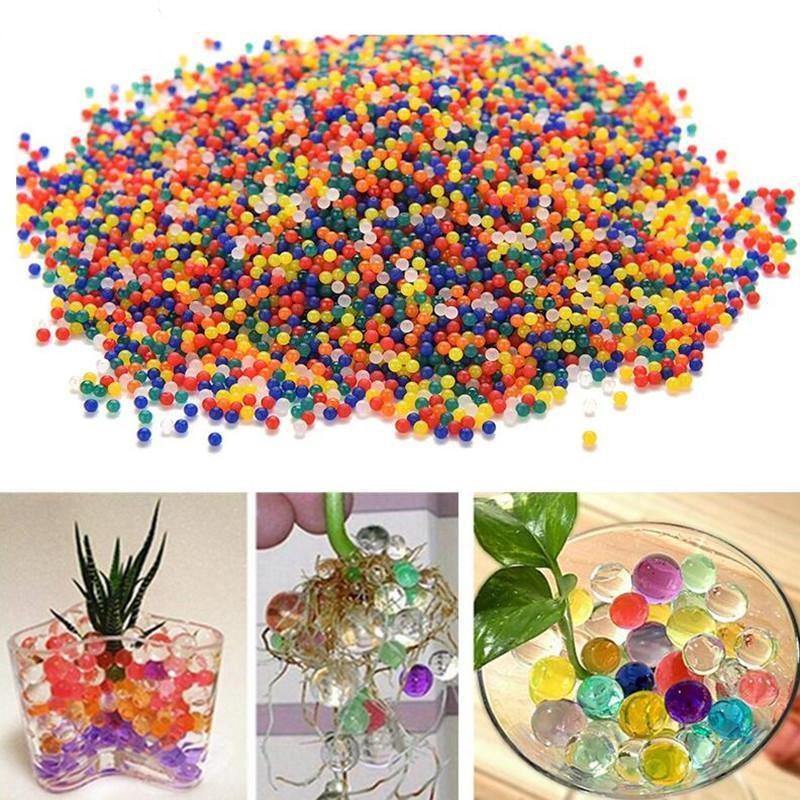 10000Pcs/Set Crystal Soil Hydrogel Gel Polymer Water Beads Flower/Wedding/Decoration Maison Growing Water Toy Balls Home Decor