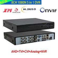 Enregistreur vidéo 5 en 1 hybride, 8 canaux, 1080n, h265, Onvif P2P, Xmeye, HDMI, système de caméra CCTV pour Tvi CVI CVBS AHD 1080P
