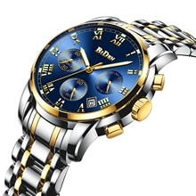 купить BIDEN 2019 New Fashion Men Watch Date Chronograph Steel Strap Top Brand Luxury Business Quartz Wristwatch Male Relogio Masculino по цене 1064.9 рублей