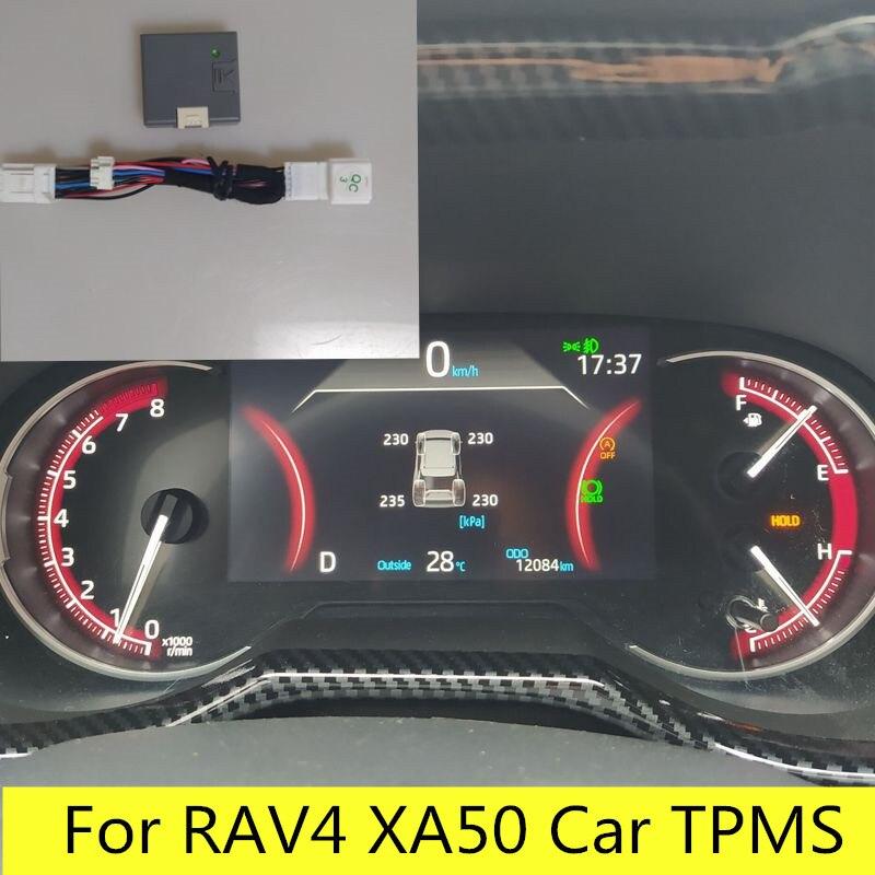 For 2019 2020 Toyota RAV4 XA50 Car TPMS TIRE Tyre Pressure Monitoring System Digital LCD Dash Board Display Auto Security Alarm