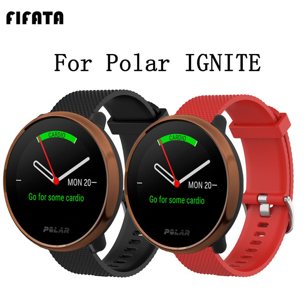FIFATA 20/22MM Silicone Bracelet For Polar IGNITE For Xiaomi Huami GTS/Amazfit GTR 47MM/42MM Smart Watch Wristband For Huawei GT