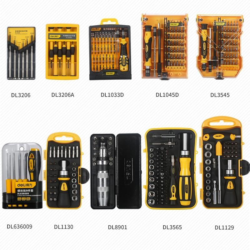 Купить с кэшбэком DELI  Hexagon plum screw screwdriver set  household multi-function notebook phone maintenance screwdriver tool