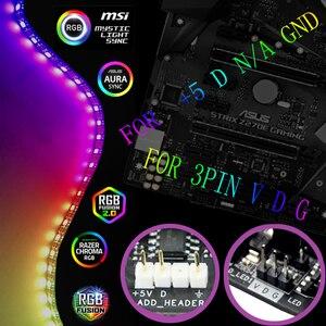 WS2812b taśma LED RGB do ASUS AURA SYNC / MSI Mystic synchronizacja światła/GIGABYTE RGB Fusion 2.0 płyta główna/PC komputer taśma led