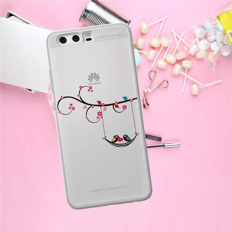 Fiore di lusso Per Huawei Compagno di 9 10 20 P8 P9 P10 P20 P30 P Smart Lite Plus Pro Cassa del telefono copertura Coque Etui funda regalo di modo del gatto