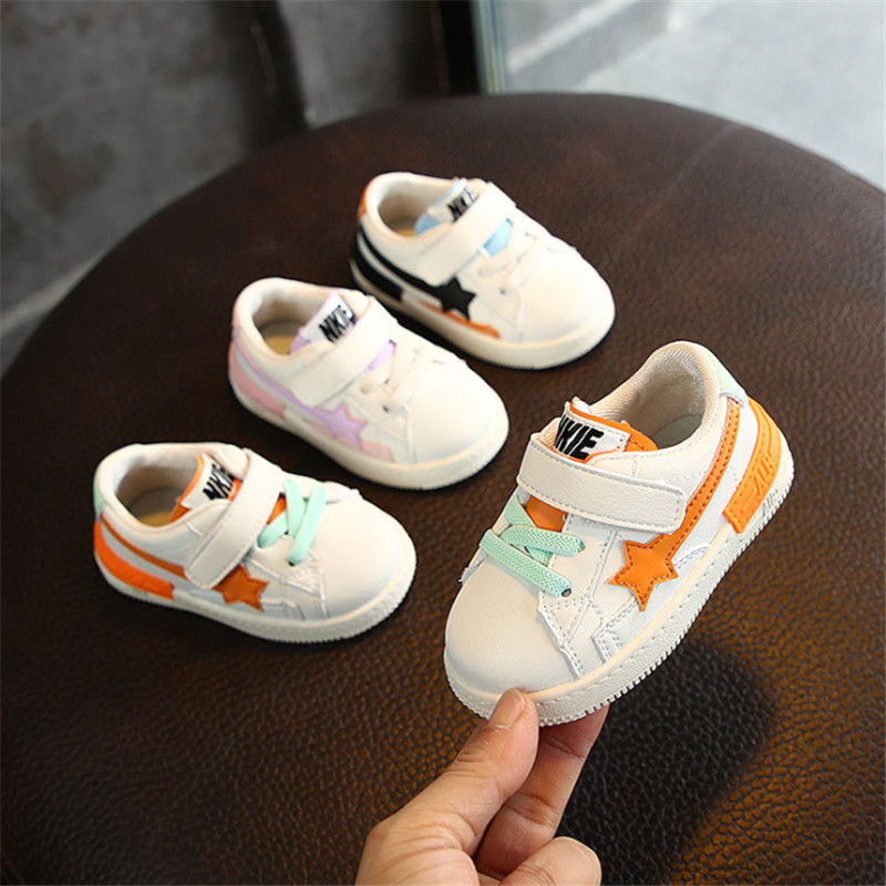 DIMI 2020 Spring Infant PU Leather Boy Girl Toddler Shoes 0-3 Year Baby Sneakers Fashion Comfortable Flat Kid Walkers Shoes
