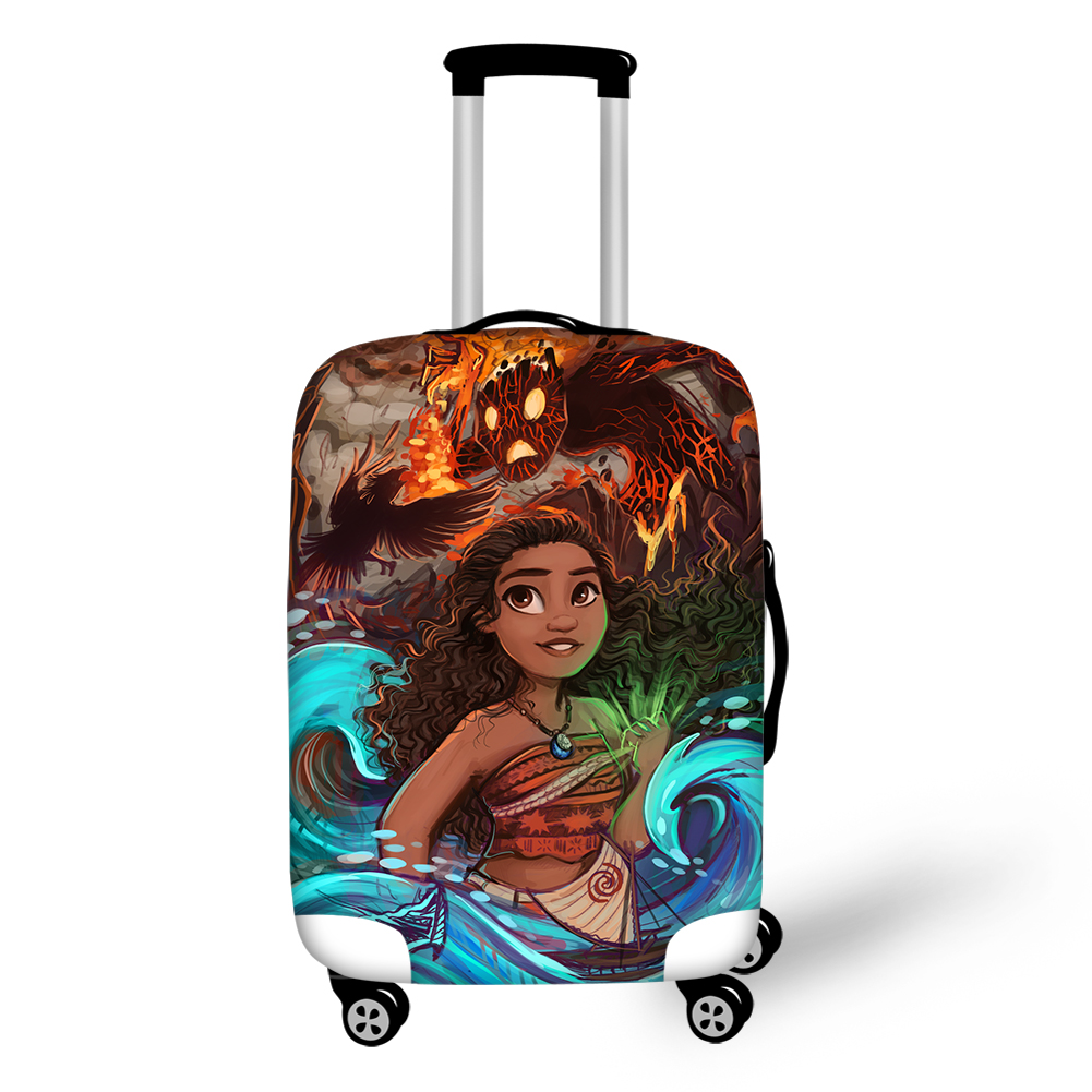 HaoYun Travel Luggage Cover Moana Vaiana Princess Pattern Protective Suitcase Cover Elastic Dust-proof & Water-proof Protector