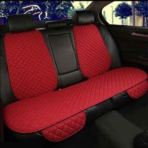Image 4 - Araba klozet kapağı ön arka keten yastık nefes koruyucu koruyucu ön arka arka yastık pedi Mat arkalığı
