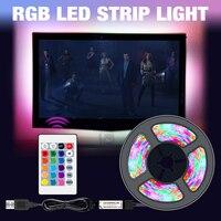USB LED Streifen Licht RGB DC 5V SMD2835 Flexible Band Fita Led TV Licht 50CM 1M 2M 3M 4M 5M Band RGBW Fernbedienung Neon Led