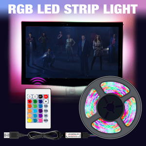 USB LED Strip Light RGB DC 5V SMD2835 Flexible Ribbon Fita Led TV Light 50CM 1M 2M 3M 4M 5M Tape RGBW Remote Control Neon Led(China)