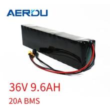 AERDU – batterie au lithium M365 pro 36V, 9, 6ah, 10ah, 600watt, 20a, avec cellules 3200mah, pour vélo et trottinette, 350/500W
