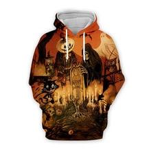 halloween print 3d hoodie streetwear horror men sweatshirt 2019 fashion skulls hoodies black clothes harajuku girl holiday