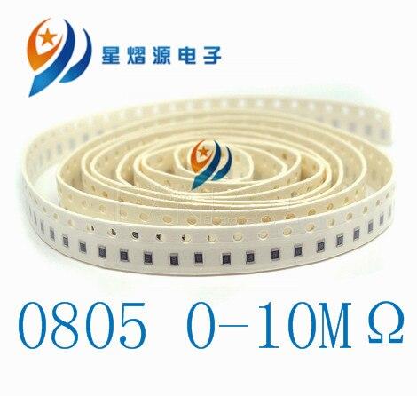 100Pcs 0805 SMD 1/4W Chip Resistor 68R 75R 82R 91R 100R 110R 120R 130R 150R 160R 180R 200R 240R 270R