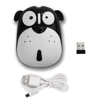 Cute Cartoon Dog Wireless Mute Mouse 1200DPI Energy Saving Ergonomic Optical Mice Universal Computer for Laptop PC