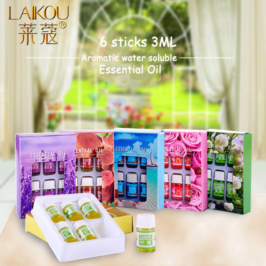 LAIKOU Essential Massage Aroma Oils Rose Lavender Essential Oils For Aromatherapy Diffusers Massage Fragrances Lemon Ocean Oil