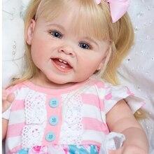 Npk, kit de bonecas reborn de 28 polegadas, mede de mão para meninas, fonte de renascimento, diy, brinquedo, macio, toque gentil, kit de vinil peças de boneca,