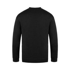 Image 2 - HW Mens Fashion Hoodies O Neck Loose Fit Long sleeved Sweatshirt Japanese Streetwear Hip Hop Clothing