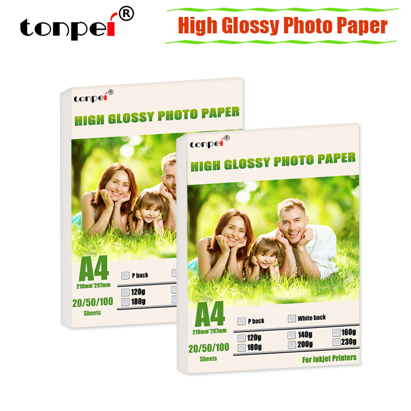A4 High glossy Photo Paper  Printer Photographic Paper single-side coated for Inkjet Printers 120g 140g 160g 180g 200g 230g