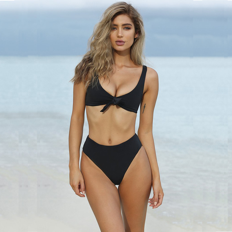 <font><b>Sexy</b></font> <font><b>bandage</b></font> bow push high <font><b>bikini</b></font> <font><b>set</b></font> 2019 Two Piece Swimsuit Push Up <font><b>Swimwear</b></font> Bathing Suit Brazilian Beach Wear <font><b>Swimming</b></font> Suit image