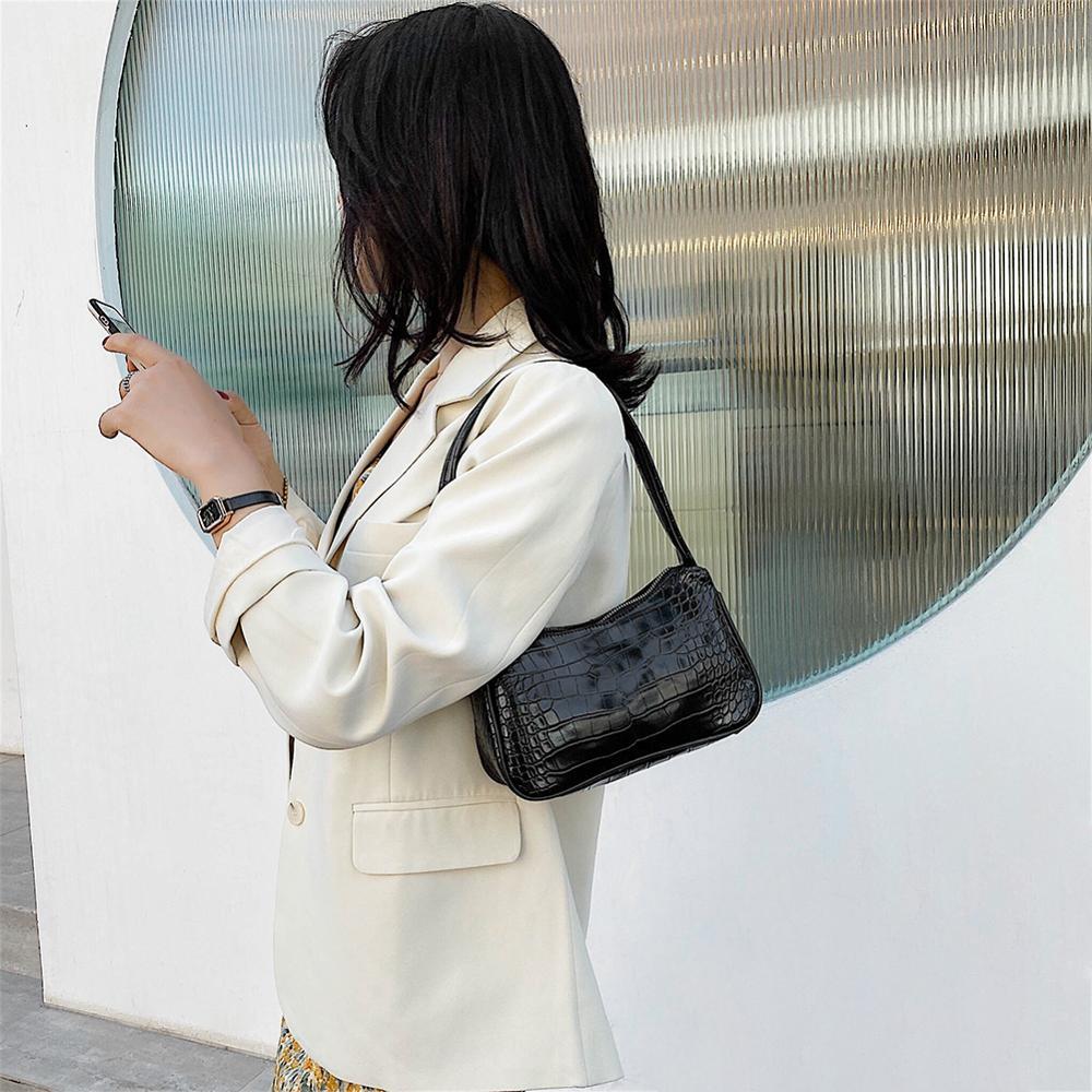 Retro Umhängetasche Vintage Handtasche Hobos Tasche für Frauen PU - Handtaschen - Foto 4