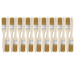 18Pcs/Set Flat Paint Brushes and Chip Paint Brushes for Paint Stains Varnishes Glues and Gesso