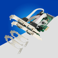 PCI Express Multi Serial Card PCI E 4 Port RS232 Serial Card PCIe Controller with TTL level 1 pin or 9 pin Power Supply for Bank