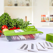 Manual Vegetable Cutter Shredder with Steel Blade Mandoline Food Slicer Chopper Potato Carrot Cheese Grater Kitchen Accessories multifunctional mandoline slicer manual drum vegetable shredder potato julienne carrot cheese grater round stainless steel blade
