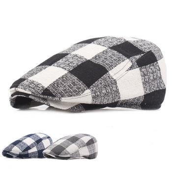 Czapki wędkarskie bawełniane czapki z daszkiem czapki wędkarskie damskie Plaid Beret Travel czapki wędkarskie męskie kapelusze przeciwsłoneczne Outdoor czapki wędkarskie tanie i dobre opinie JC-149 Parasolka COTTON