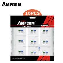 AMPCOM 86 Typ Frontplatte Computer Buchse Panel Netzwerk Modul Keystone Jack RJ45 Modular Koppler Wallplate Stecker Adapter