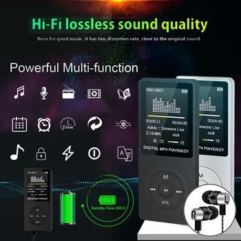1.8 Inch Portable MP3 Player MP3 Music Player Digital LCD Screen HIFI Voice Recording FM Radio Recorder Player Card Reader 7
