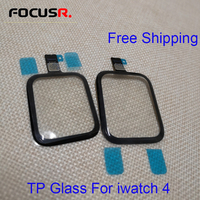 Free Shipping 40/44mm Touch Screen Digitizer Glass Lens Panel For Apple Watch Series 4 LCD Front Glass Sensor Outer Panel