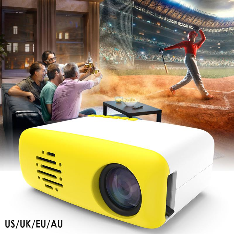 Newest Portable Projector Mini 3D Full HD 4K 1080P LED Small Home Theater Cinema AV USB HDMI Video