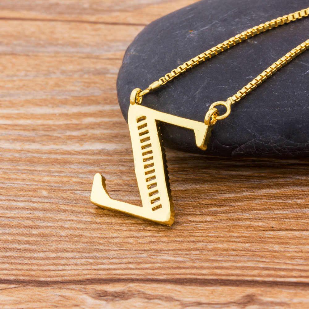 Di alta Qualità Nome Iniziale Lettera Collana In Oro 26 Lettere di Fascino Dei Pendenti Micro Pavimenta CZ di Rame Dei Monili Della Catena Per Le Donne Ragazze regali