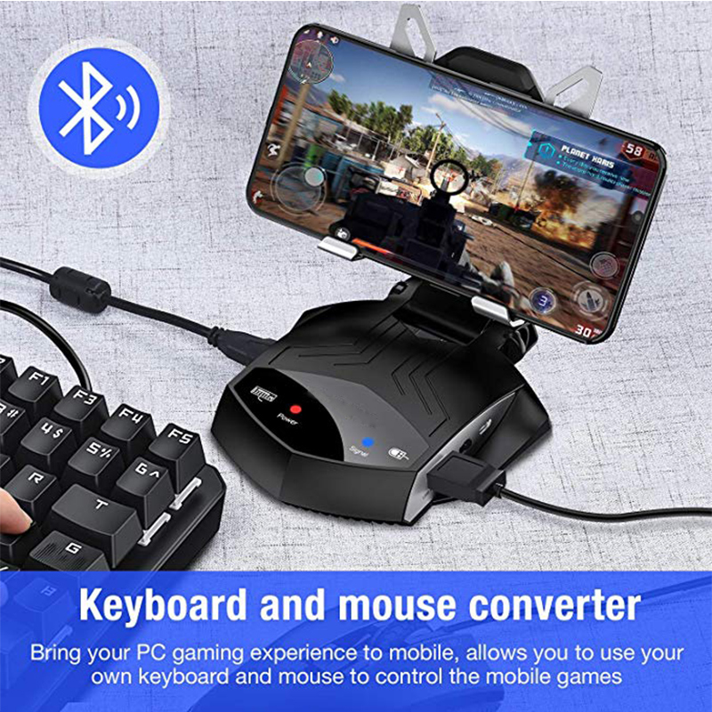 Mobile Phone PUBG Gamepad Controller Keyboard Mouse Converter For Tablets Iphone IOS Android Battledock Bluetooth Adapter