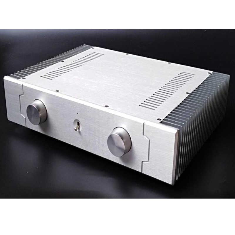 430*90*308 мм DIY box усилитель Корпус Шасси Малый класс A SD4309A/B внешний охлаждение все алюминиевый корпус усилителя оболочки