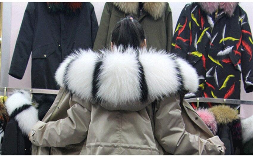Горячая Распродажа, шарф из натурального меха, воротник 75*20 см, Женское зимнее пальто, меховые шарфы, роскошный мех енота, настоящие зимние теплые грелки для шеи, Shaw