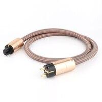 Venta caliente Hola fin Cable de alimentación Schuko CD amplificador de la UE Cable de enchufe de alimentación de alta fidelidad de la red de CA de CableEU Schuko de línea